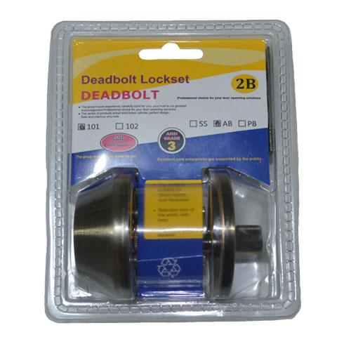 Deadbolt Lockset Single Cylinder